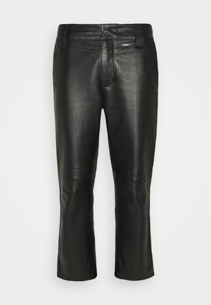 WORK PANT - Leather trousers - black