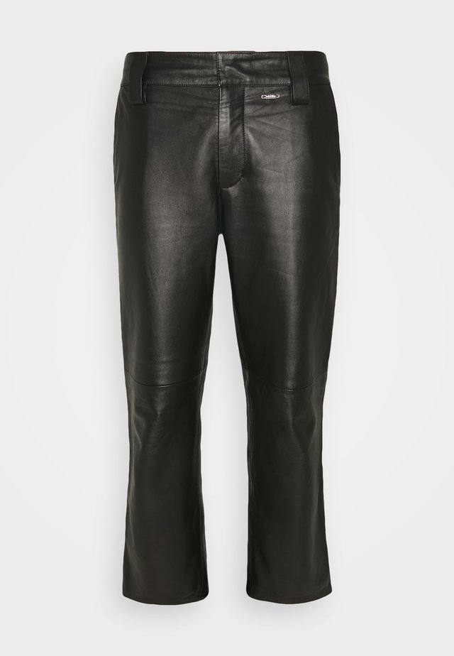 WORK PANT - Pantalon en cuir - black