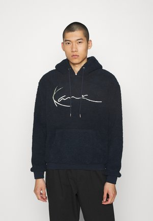 SIGNATURE TEDDY HOODIE - Sweat à capuche - navy