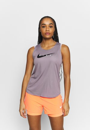RUN TANK - Linne - purple smoke/reflective silver