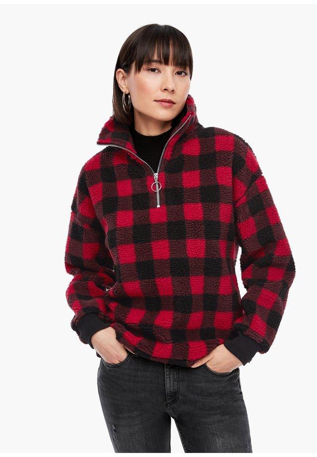 SWEATSHIRT - Sweater - red check