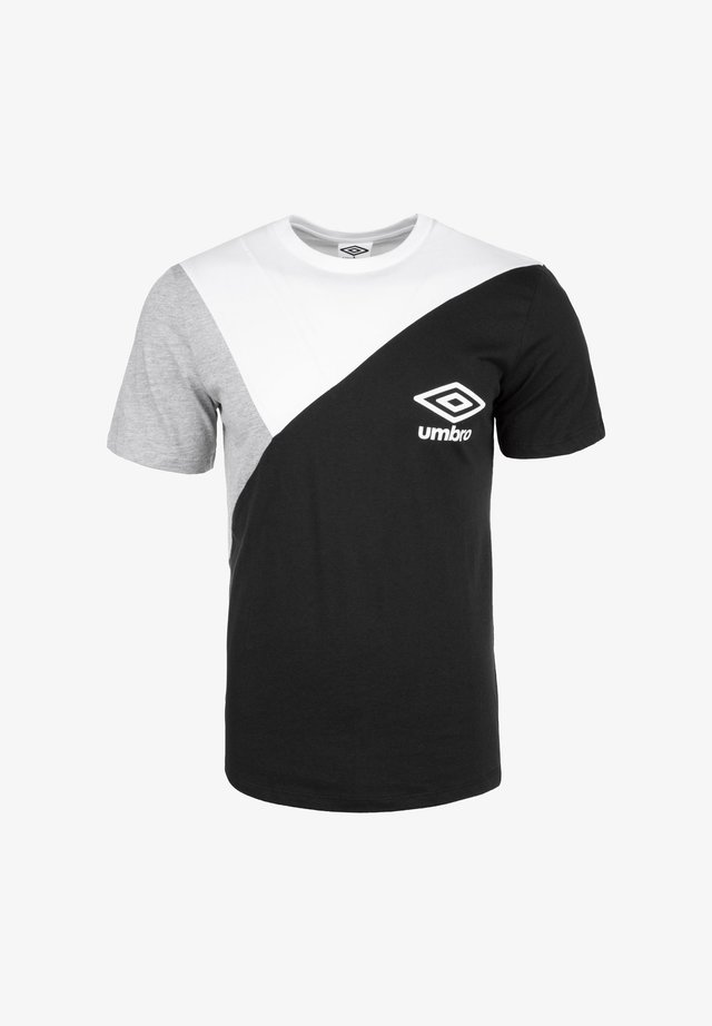 COLOURBLOCK TEE - T-shirt print - black / brilliant white / grey marl