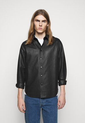 LUCAS - Leather jacket - black