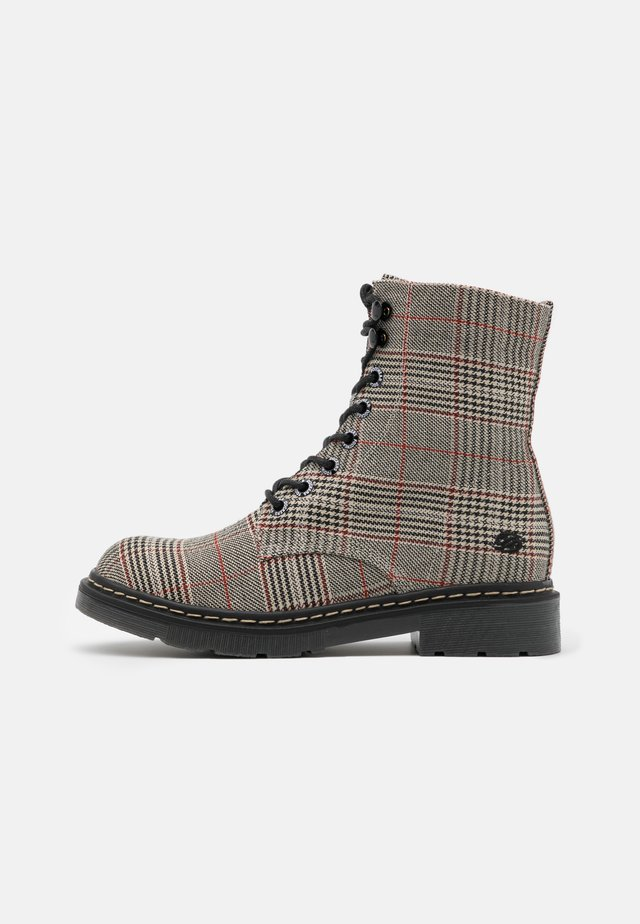 Bottines à lacets - braun/schwarz