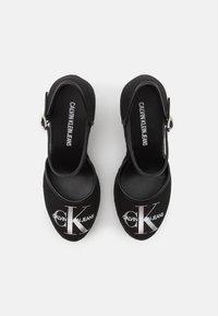 Calvin Klein Jeans - WEDGE CLOSE TOE  - Zapatos de plataforma - black - 5