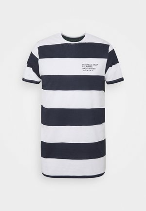 CAPTION - Print T-shirt - optic white/rich navy
