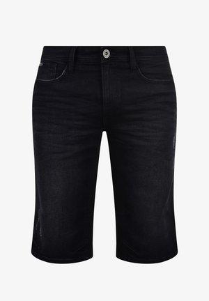 DENON - Denim shorts - denim black