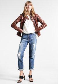 Oakwood - Leather jacket - tobacco - 1