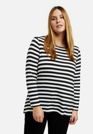 Long sleeved top - black/offwhite ringel