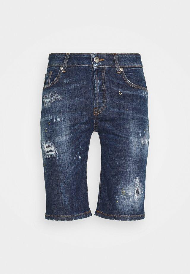 BERMUDA KONGE - Jeansshorts - blue dark