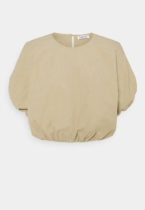 ELLEN - T-shirts med print - beige