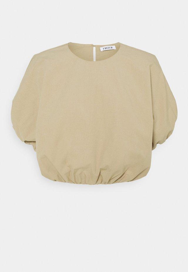 ELLEN - Print T-shirt - beige