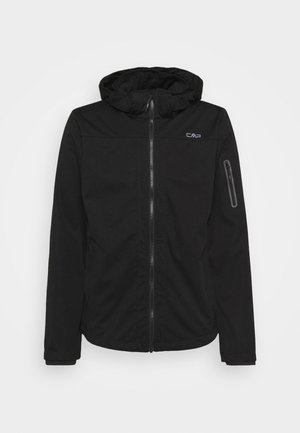 MAN ZIP HOOD JACKET - Kurtka Softshell - nero