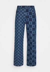 DISCHARGE STAR PRINT SKATE - Relaxed fit jeans - blue