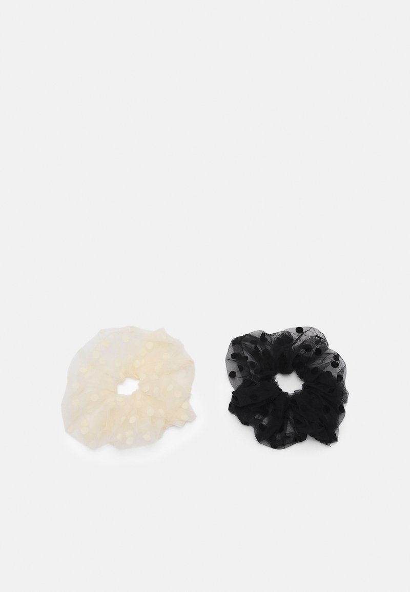 Pieces - PCDOTTA OVERSIZED SCRUNCHIE 2 PACK - Hair styling accessory - black/white