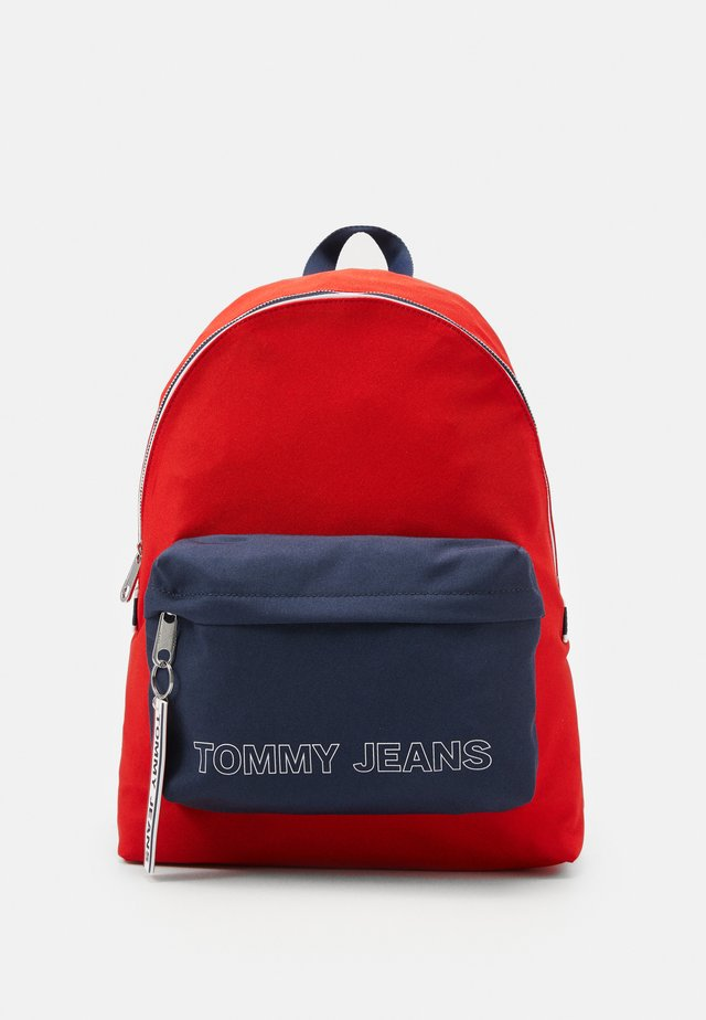 LOGO TAPE DOME BACKPACK - Mochila - red/blue