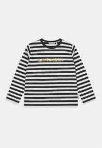 Marimekko - VEDE TASARAITA - Long sleeved top - black/white/gold - 0