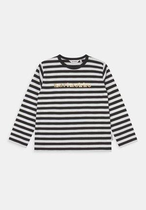 VEDE TASARAITA - Long sleeved top - black/white/gold