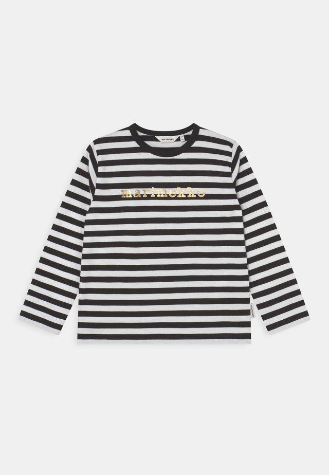 VEDE TASARAITA - Longsleeve - black/white/gold