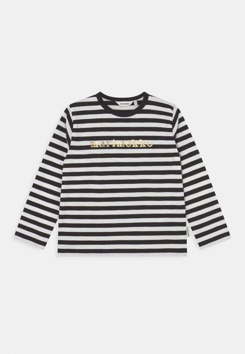 Marimekko - VEDE TASARAITA - Long sleeved top - black/white/gold