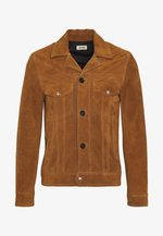 LAWRENCE - Leather jacket - cognac