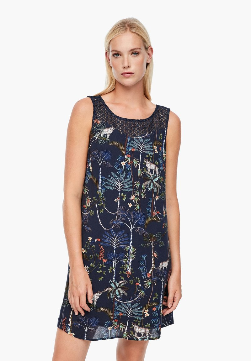 s.Oliver - Day dress - dark blue floral aop