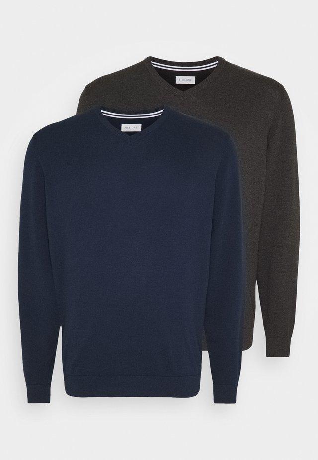 2 PACK - Maglione - dark blue/mottled dark grey
