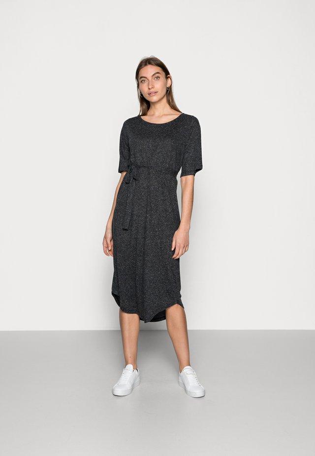 BEACH DRESS SOLID - Jerseyjurk - black