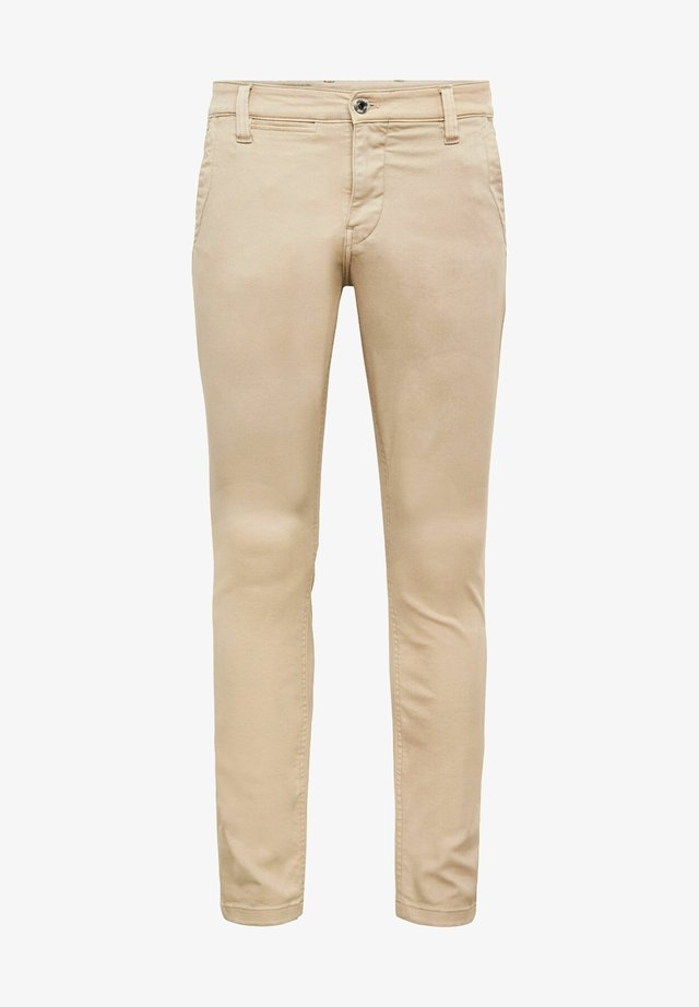 SKINNY CHINO - Chino - bracket superstretch twill rfd - khaki gd