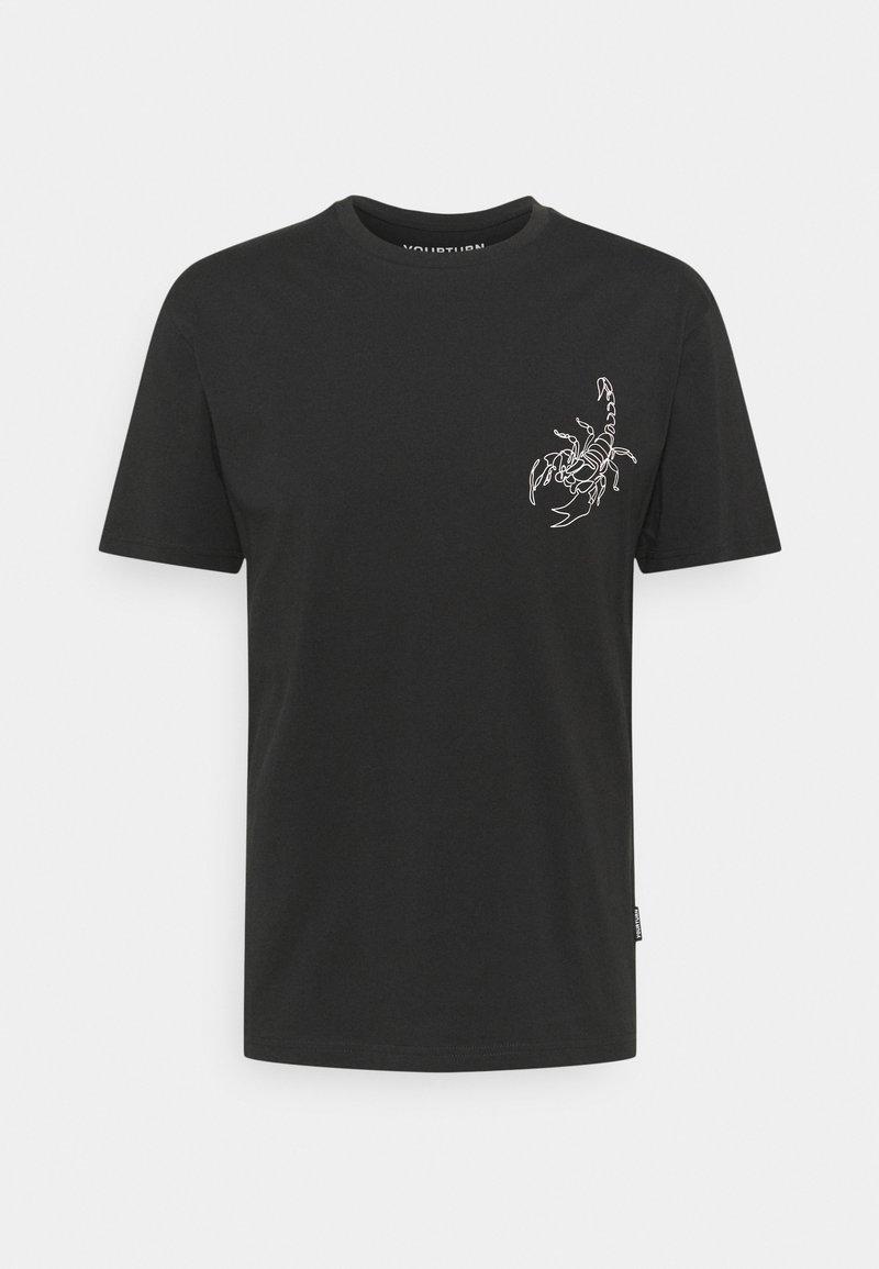 YOURTURN - STAR SIGN LOGO UNISEX - Print T-shirt - black
