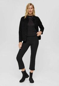 Esprit - REGULAR FIT - Trousers - black - 1