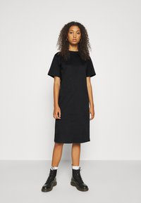 Even&Odd - Basic midi Jerseykleid - Jersey dress - black - 0