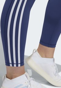 adidas Performance - BELIEVE THIS 3-STRIPES 7/8 LEGGINGS - Tights - blue - 5