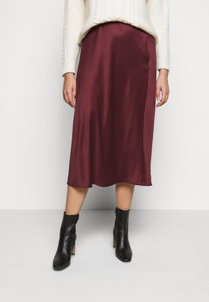 COLUMN MIDI SKIRT - A-Linien-Rock - merlot