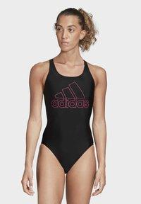 adidas Performance - ATHLY V LOGO SWIMSUIT - Swimsuit - black - 1