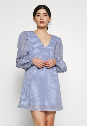 STRIPE SMOCK MINI DRESS - Korte jurk - multi