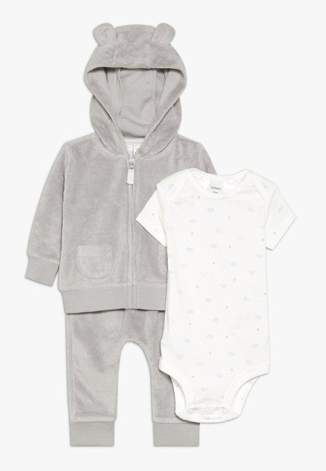 TERRY BABY SET - Body - gray