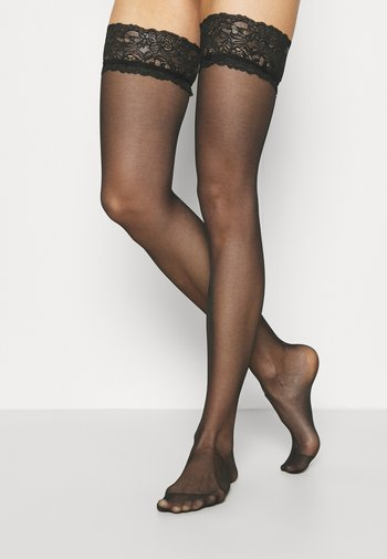 ADORE TOP HOLD UP 2 PACK - Over-the-knee socks - black