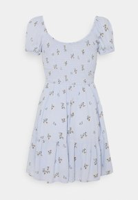 Hollister Co. - CHAIN SHORT DRESS - Kjole - blue - 1