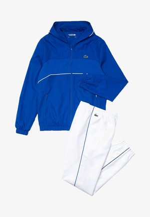 TRACK SUIT SET - Trainingsvest - bleu  blanc blanc noir