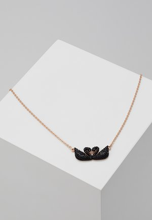 ICONIC SWAN NECKLACE DOUBLE  - Halskæder - jet