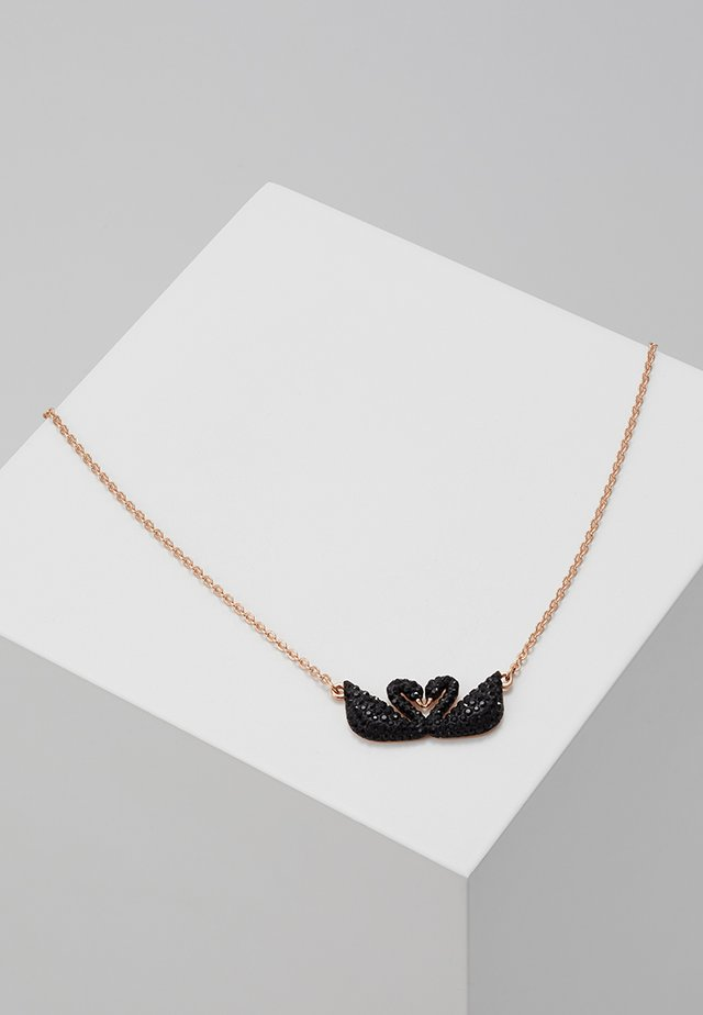ICONIC SWAN NECKLACE DOUBLE  - Halsband - jet