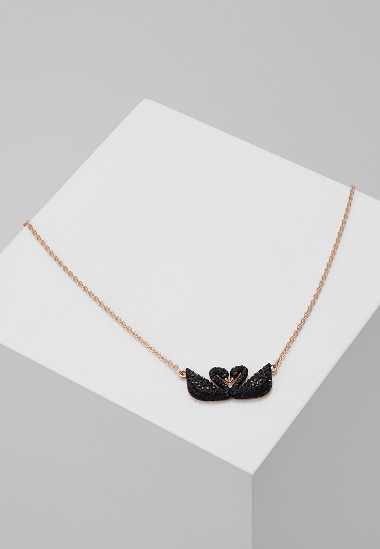 Swarovski - ICONIC SWAN NECKLACE DOUBLE  - Halsband - jet