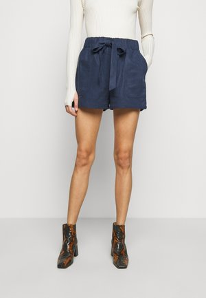BELTED PULL ON - Shorts - blueberry