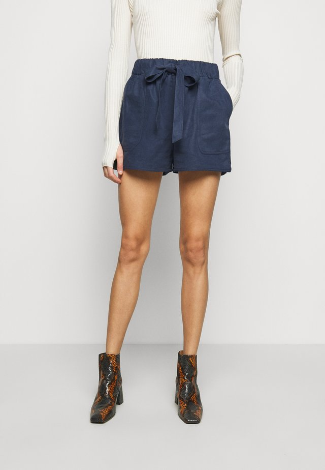 BELTED PULL ON - Szorty - blueberry