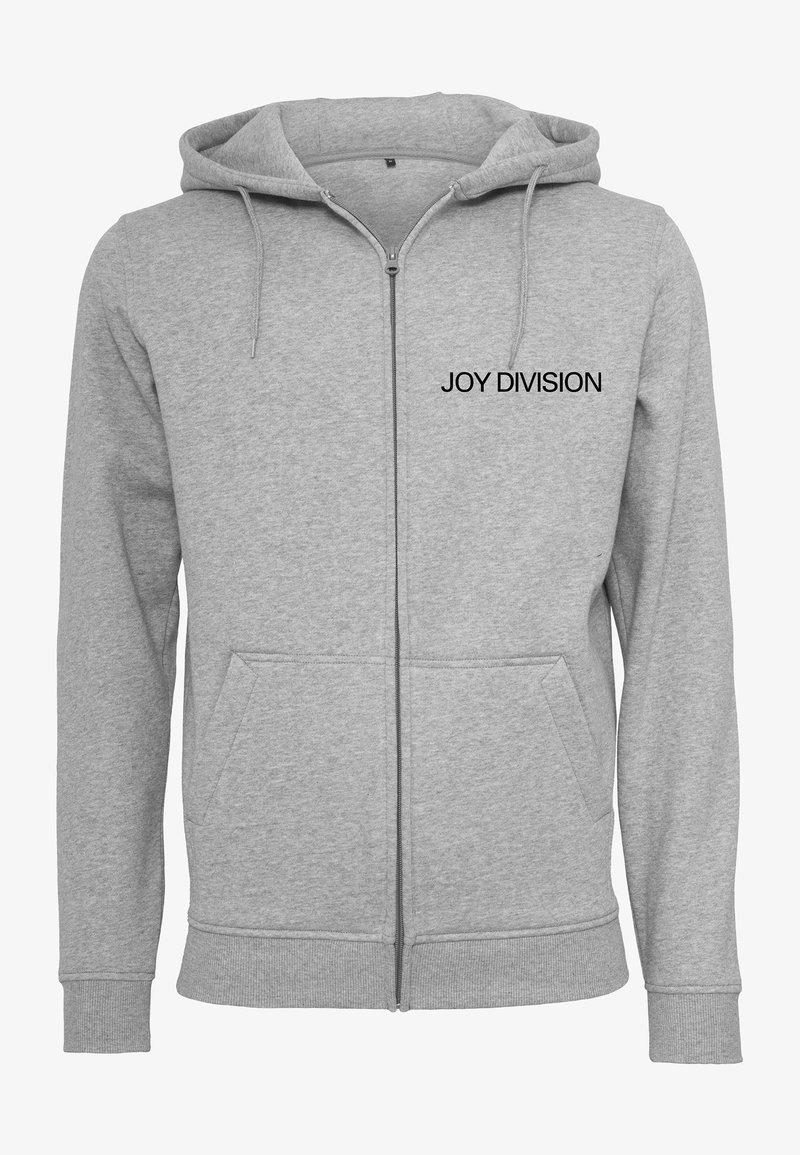 Mister Tee - JOY DIVISION UP  - Zip-up sweatshirt - heather grey