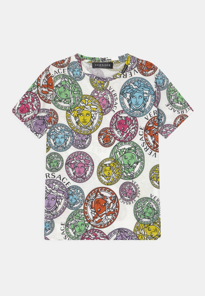 Versace - MEDUSA STAMP ALL OVER UNISEX - Print T-shirt - white/multicolor