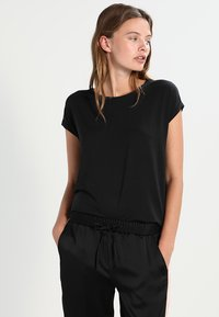 Vero Moda - VMAVA PLAIN - T-shirts basic - black - 0