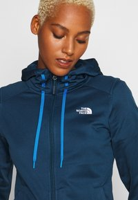The North Face - WOMENS TECH MEZZALUNA HOODIE - Fleecejacke - blue wing teal - 4