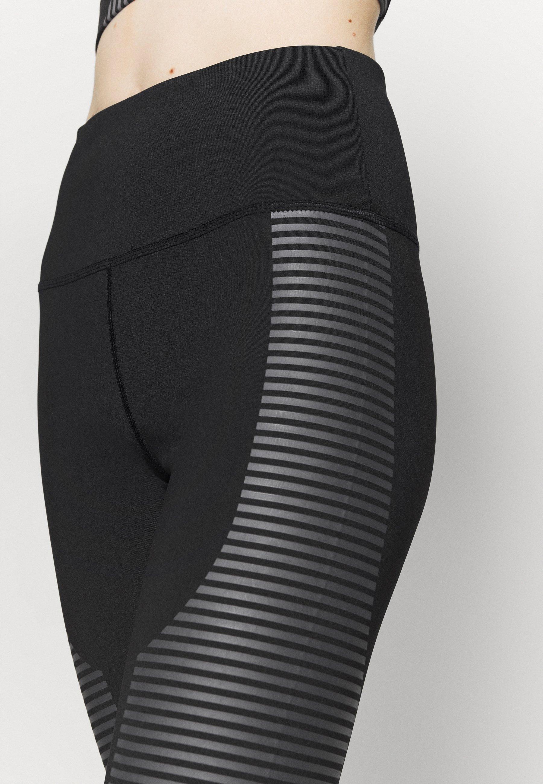 South Beach TONAL PRINT DETAIL LEGGING - Leggings - black/grey mZJ65